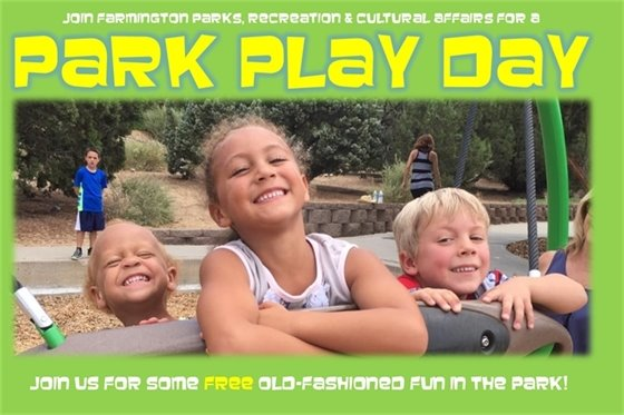 Join Farmington Parks, Recreation & Cultural Affairs for a Park Play Day. Join us for some free old-fashioned fun in the park!