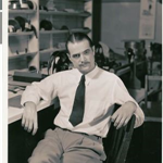 Howard Hughes at RKO Pictures, c1950. (Courtesy of UNLV University Libraries)