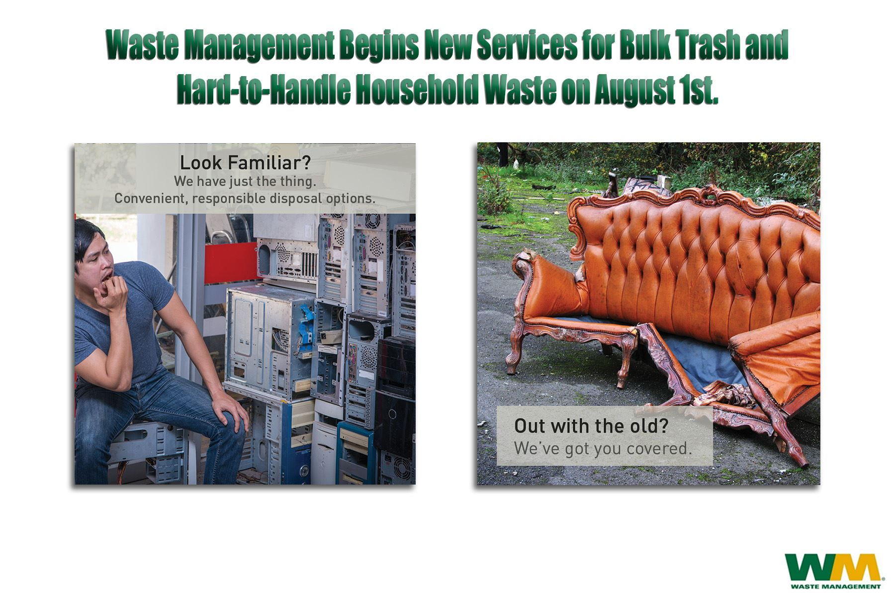New bulk trash pick up begins August 1