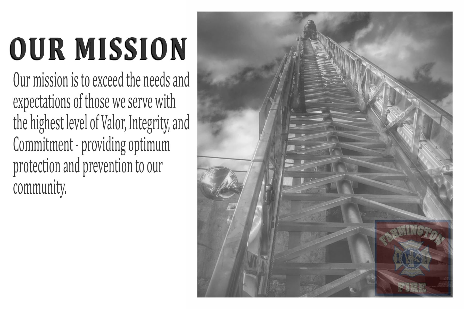 Farmington Fire Department Mission Statement