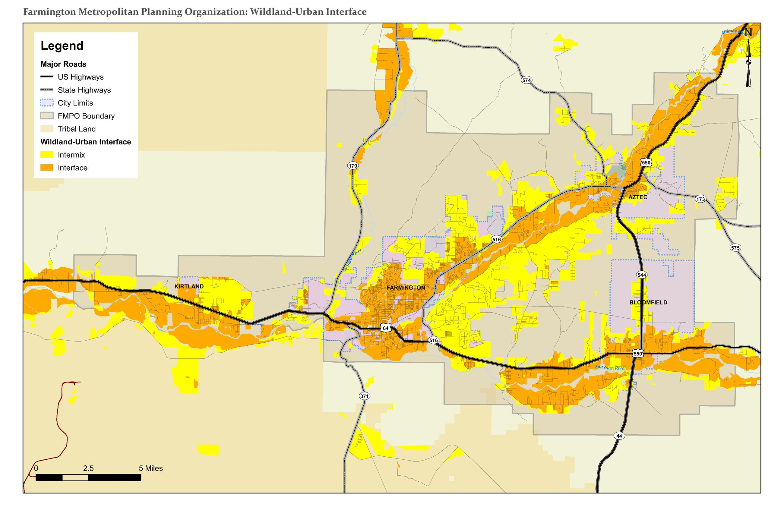 Map - Wildland-Urban Interface Opens in new window