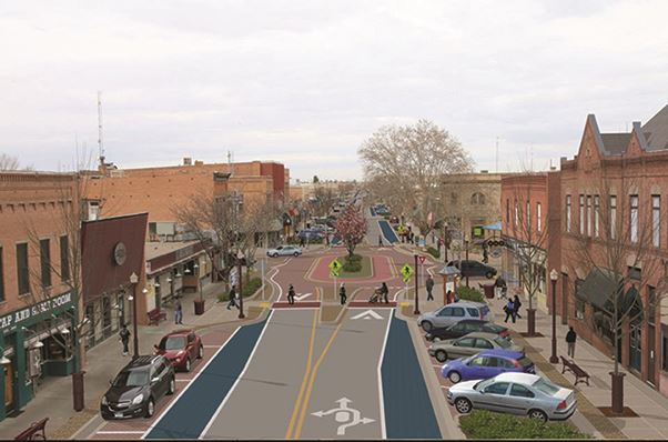 Proposed conceptual design for Orchard and Main