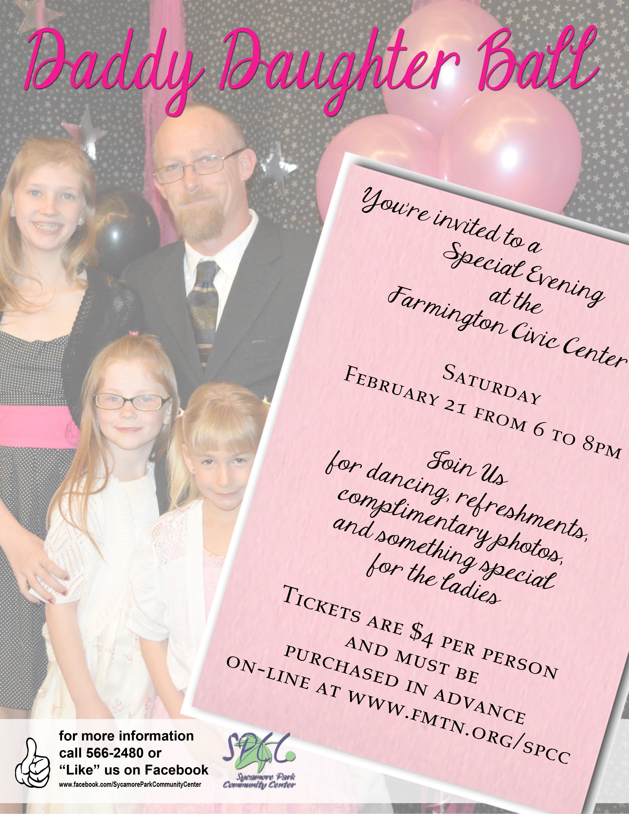 Daddy Daughter Ball Flyer