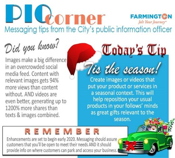 PIO corner Today's Tip 12-5-19