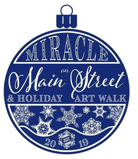 Holiday Art Walk & Miracle on Main logo