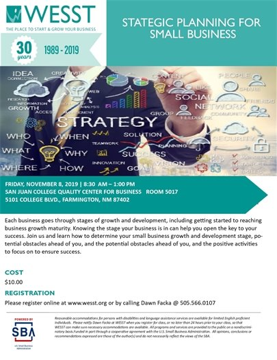 WESST small business planning