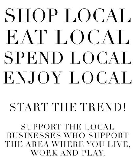 Shop Local B&W poster