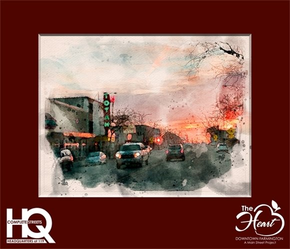 Totah at dusk Watercolor Header Matted