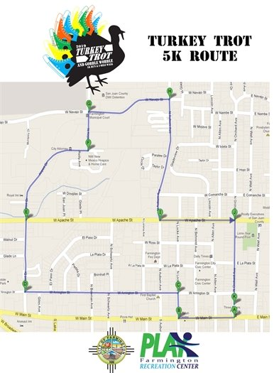 Turkey Trot 5k map