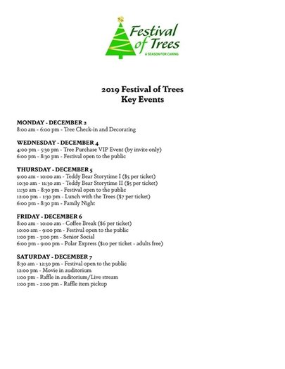 Festival of Trees event list