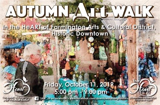 2019 Autumn Art Walk Postcard
