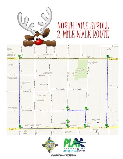 North Pole Stroll 2mi map