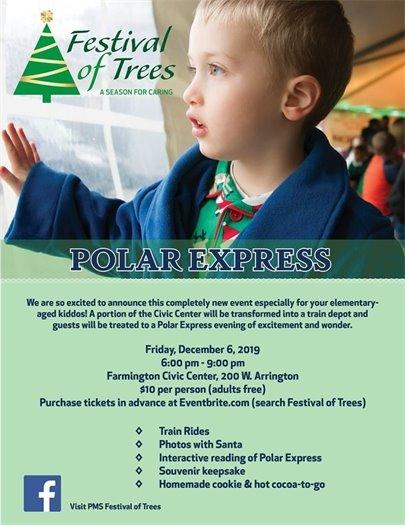 Festival of Trees Polar Express poster