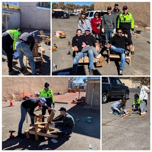 Park Rangers help out improvement Breezeway Plaza