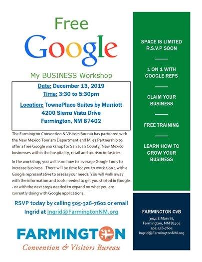 Google Workshop for My Business