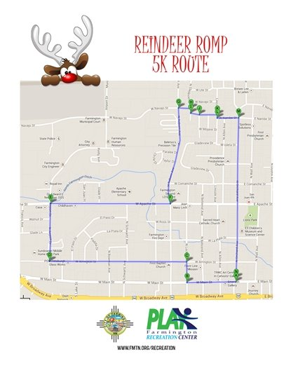 Reindeer Romp 5k map