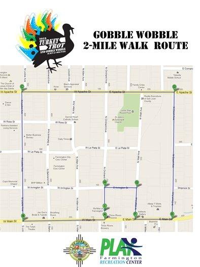 Gobble Wobble 2mi map