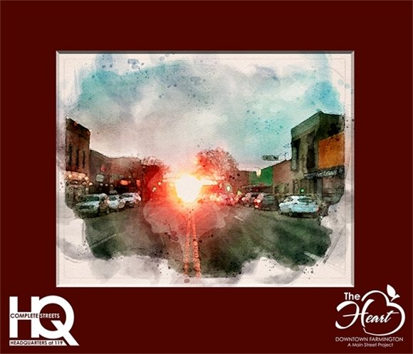MainStreet sunset Header Matted