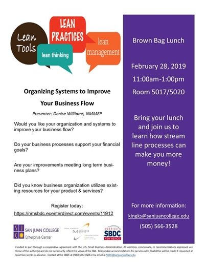 SBDC Brown Bag Feb 28 2019