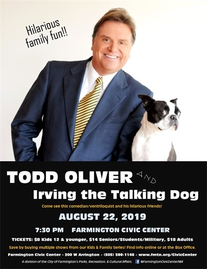 Todd Oliver and Irving the Talking Dog