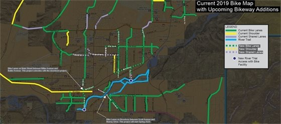 Bike and River Trails map